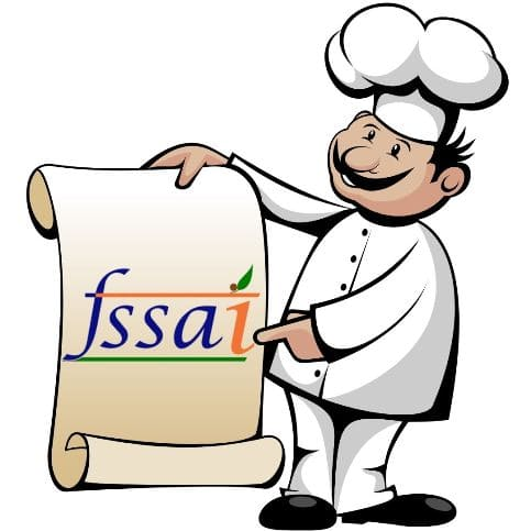 Chef showing FSSAI logo